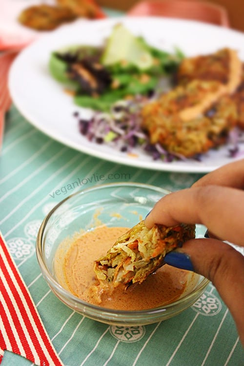Carrot and Potato Fritters Unfried, Baked Vegan Appetizers