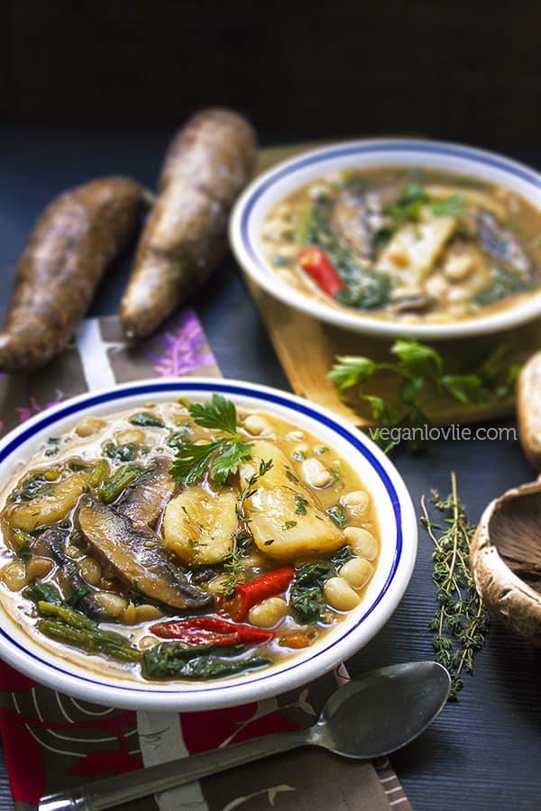 Mauritian Cassava Yucca Stew / Soup - Kat-Kat Manioc, vegan/vegetarian recipe