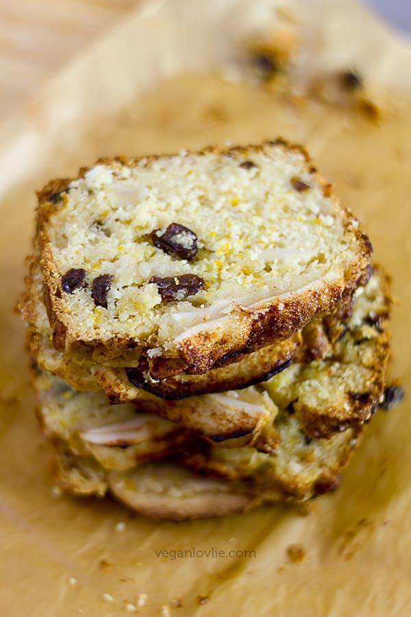 Vegan Apple Cake Recipe with Orange - Vegan Loaf Cake