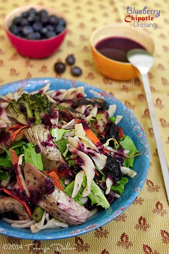 Blueberry chipotle dressing