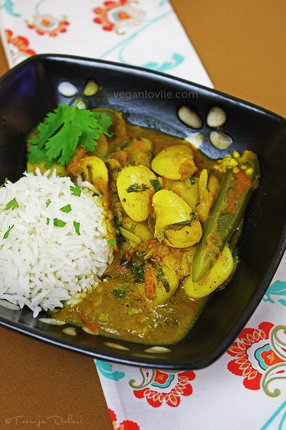 Butter bean curry, lima bean curry, Mauritian curry