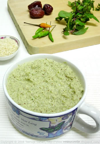 Coconut Chutney with Date and Sesame