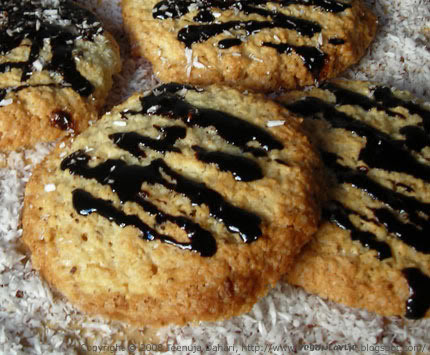 Vegan Coconut Chocolate Orange Cookie