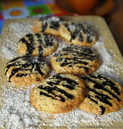 Vegan Coconut Chocolate Orange Cookie