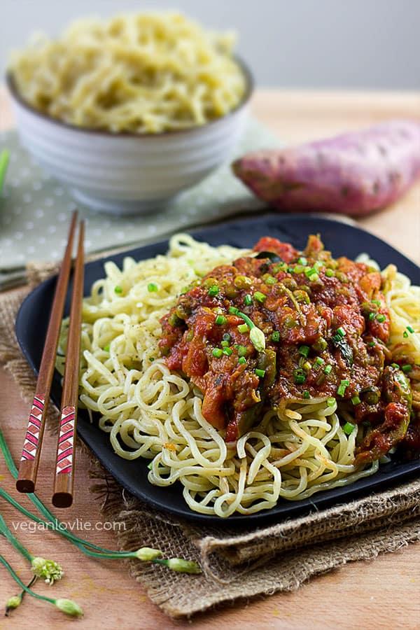homemade ramen noodles, how-to make homemade noodles, sweet potato noodles recipe