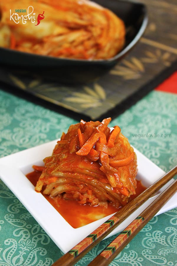 Vegan/Vegetarian Kimchi Recipe, no onion & no garlic