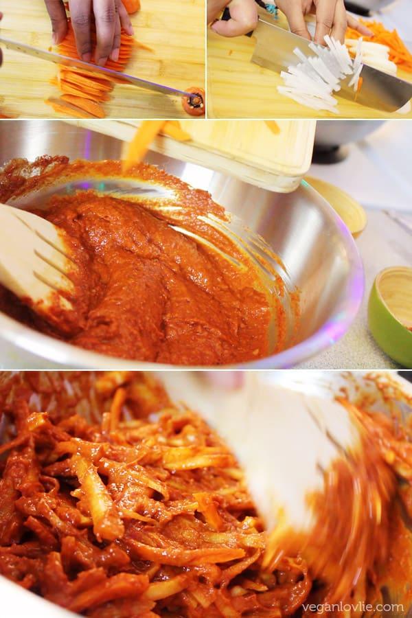 Vegan/Vegetarian Kimchi recipe, no onion and no garlic