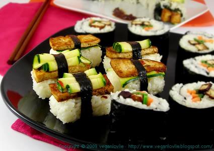 vegan sushi nigiri sushi