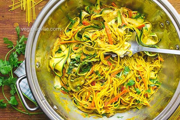 One Pot Pasta Curry Spaghetti