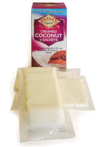 Pataks creamed coconut sachets