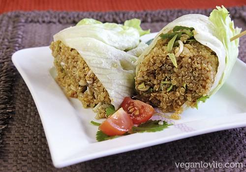 quinoa salad with orange miso dressing