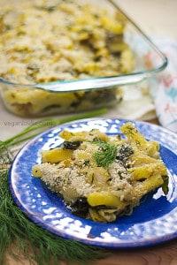 Vegan White Sauce Bechamel Rigatoni Pasta Bake Recipe