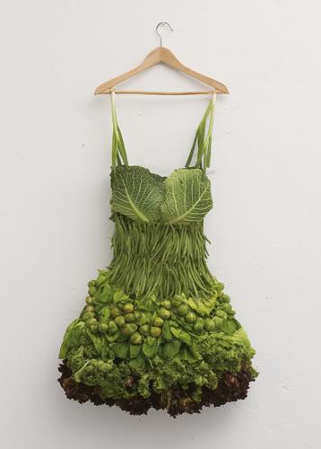 green vegetable dress