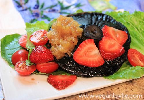 Strawberry, Portobello Salad