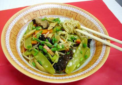 noodle stir fry, vegan
