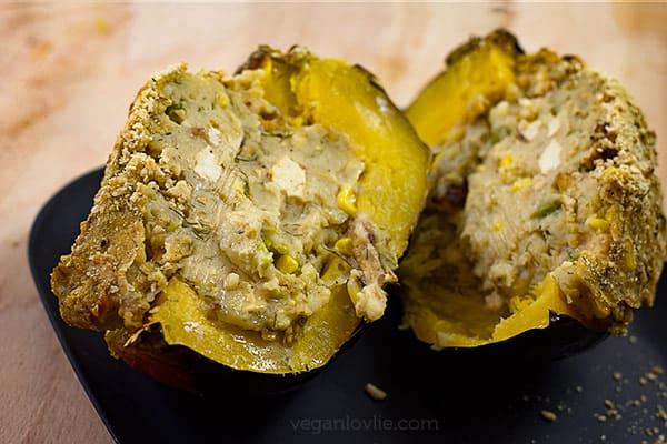 stuffed acorn (pepper) squash recipe