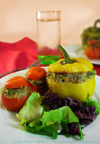 vegan potato stuffed veggies