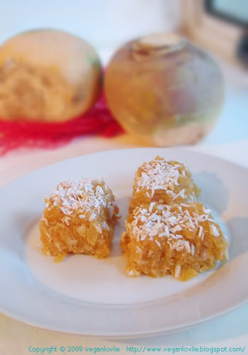 swede rutabaga dessert squares