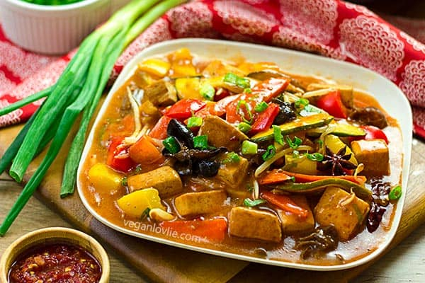 Szechuan vegetables and tofu, easy one pan recipe