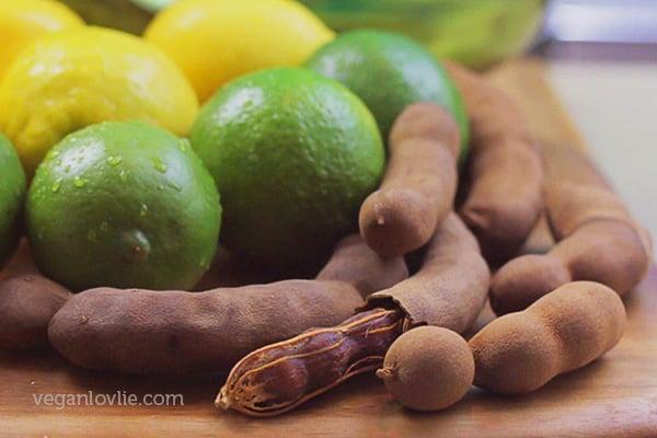 tamarind, lemon, lime, tamarind water, tamarind drink, lemonade, limeade, agua de tamarindo