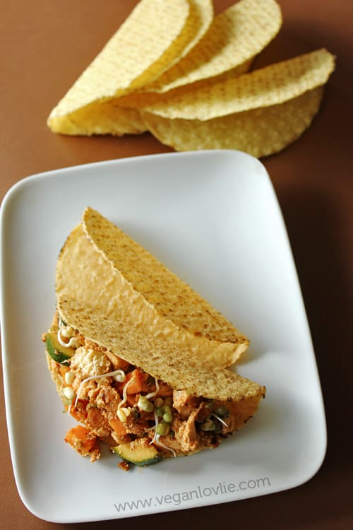 Tofu scramble taco