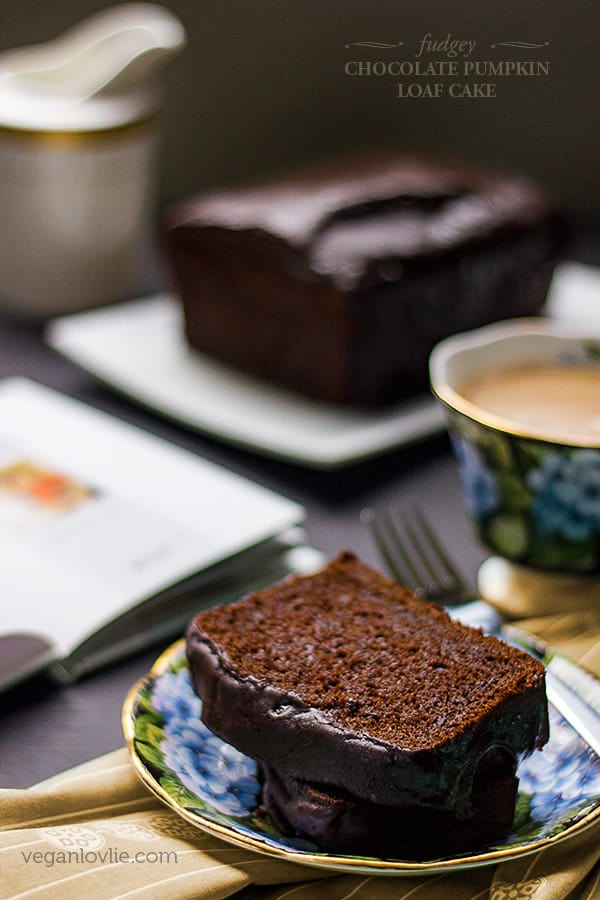 Vegan Chocolate Pumpkin Loaf Cake