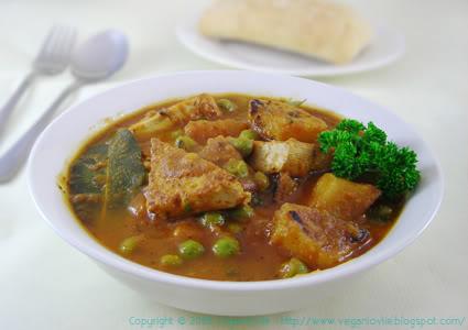 vegan mauritian stew, recette daube mauricienne