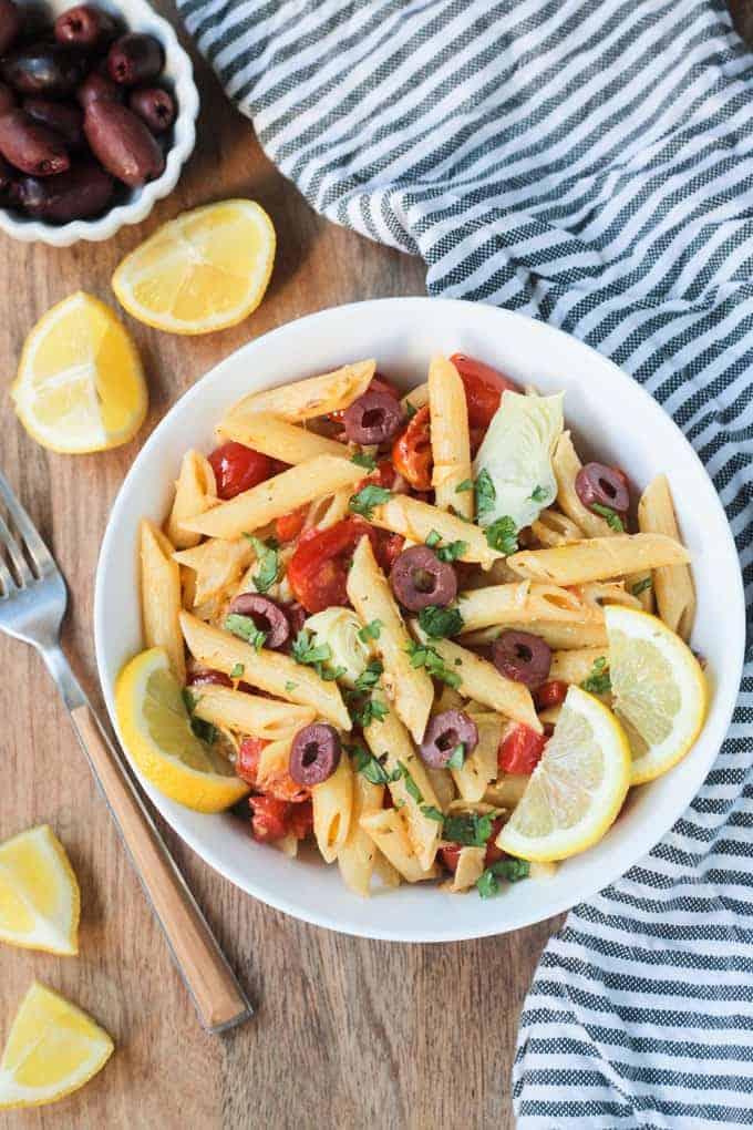 Mediterranean Pasta - Veggie Inspired