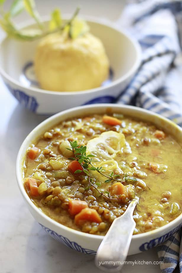 Lemony Lentil Soup from Yummy Mummy Kitchen