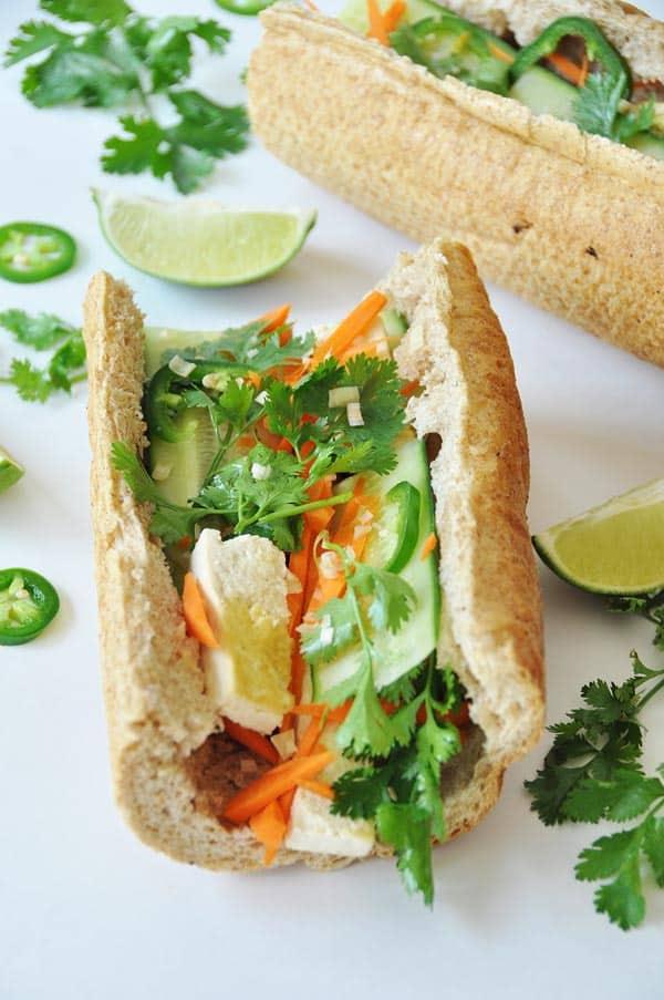 Bahn Mi Sandwich - Veganosity