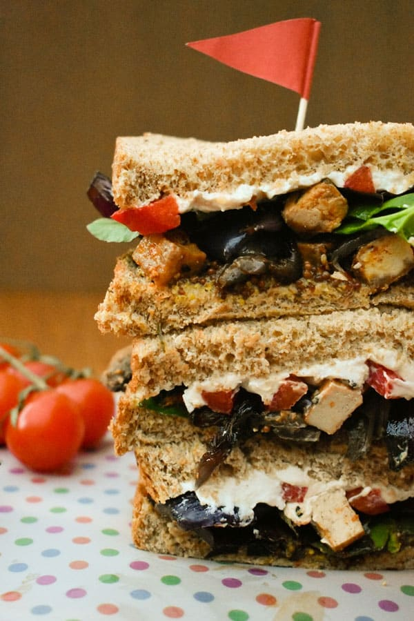 Roasted Vegetable and Tofu Sandwich - Tinned Tomatoes
