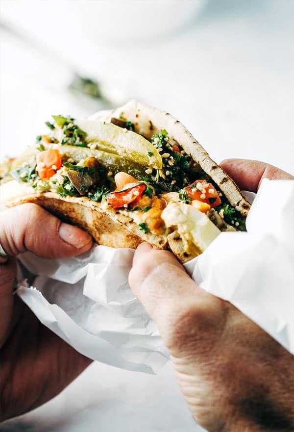Vegan Sabich - Goodness Kitchen
