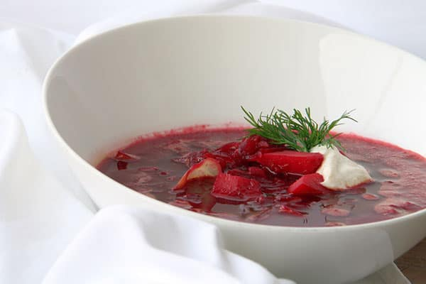 Vegan Borscht Soup from Active Vegan