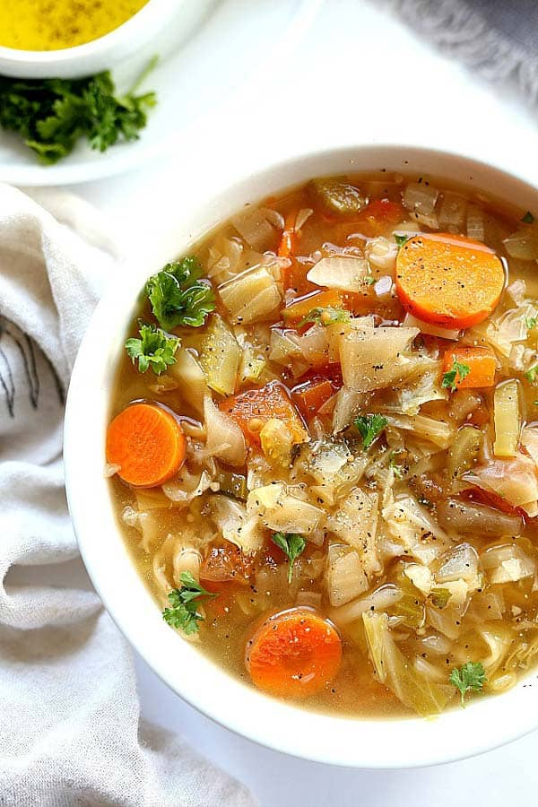 Comfort Cabbage Soup from Delightful Mom Food