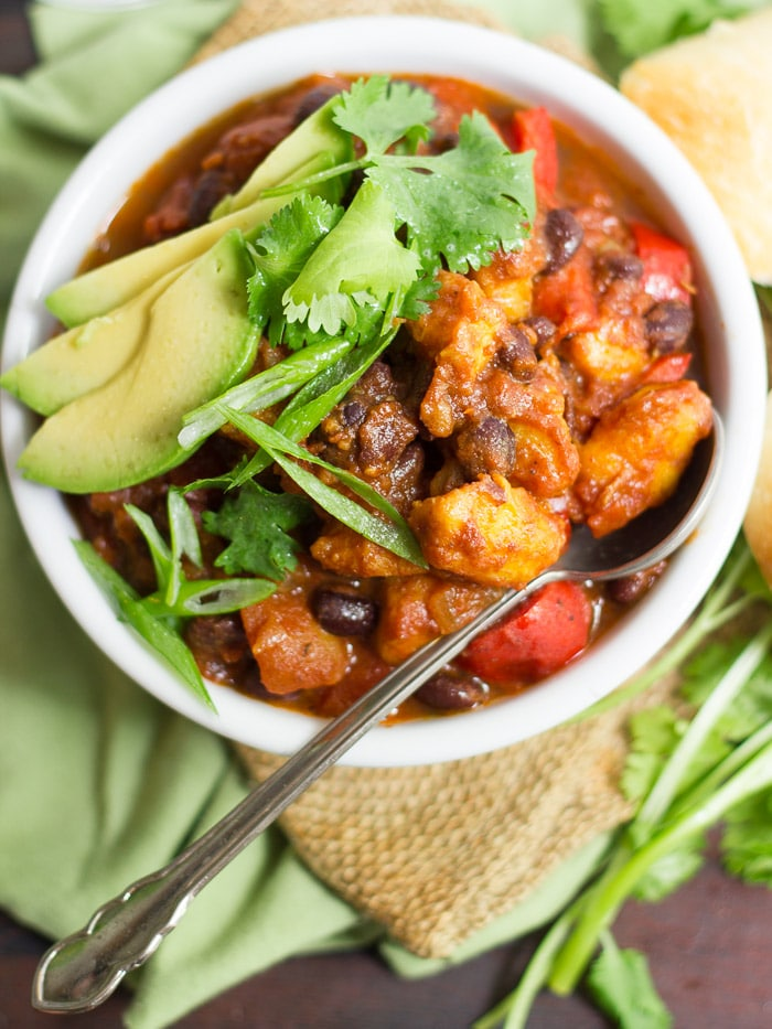 Black Bean Plantain Chili from Connoisseurus Veg