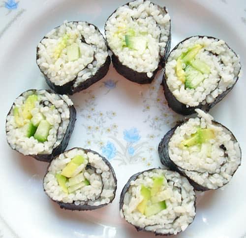 vegan vegetarian sushi