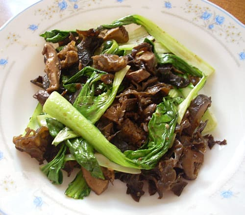 Pak Choi Stir Fry - Bok Choy and Mushroom Stir Fry