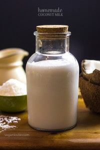 Homemade Coconut Milk - Non dairy milk substitute