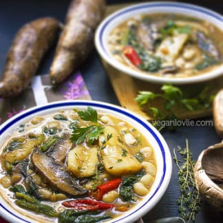 Kat-Kat Manioc - Mauritian Cassava Stew / Soup, vegan/vegetarian recipe