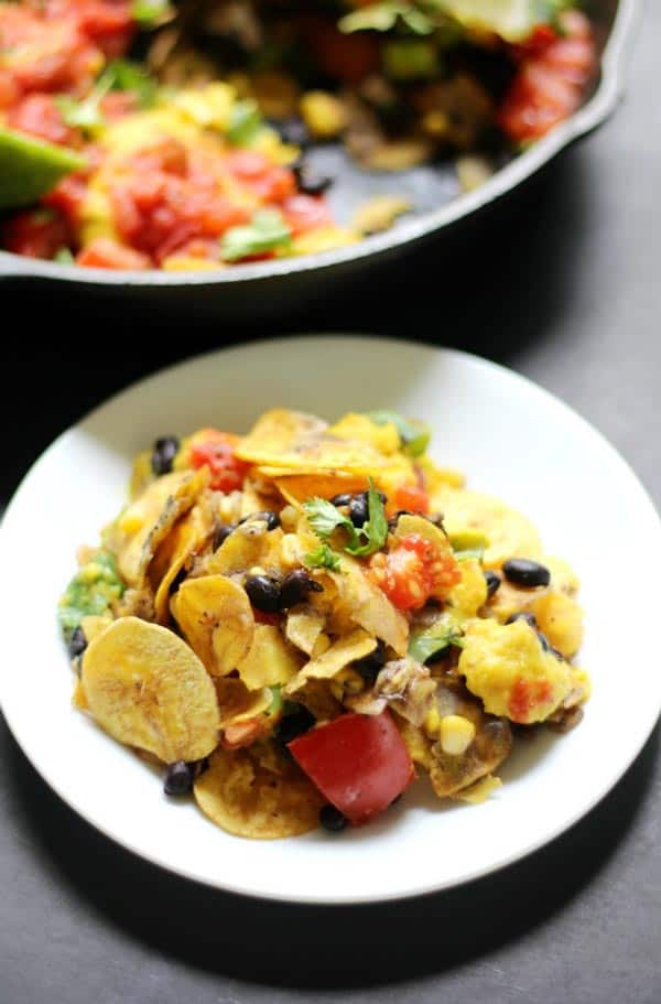 Skillet Plantain Nachos from Strength and Sunshine