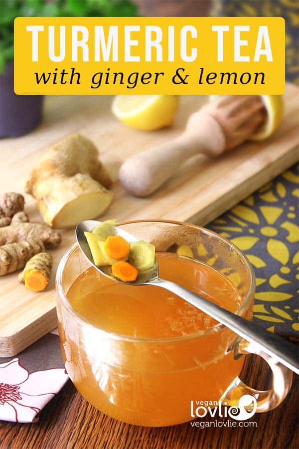 Turmeric Tea with Ginger and Lemon, Turmeric Root Tea