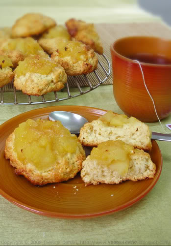 vegan apple scones recipe