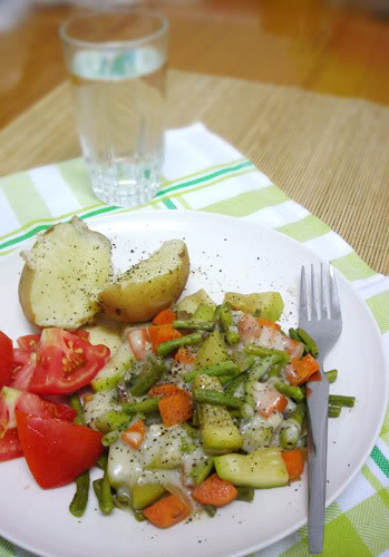 Bechamel Sauce with Vegetable