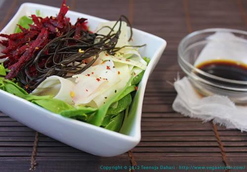 Beetroot, Green Mango and Arame Salad