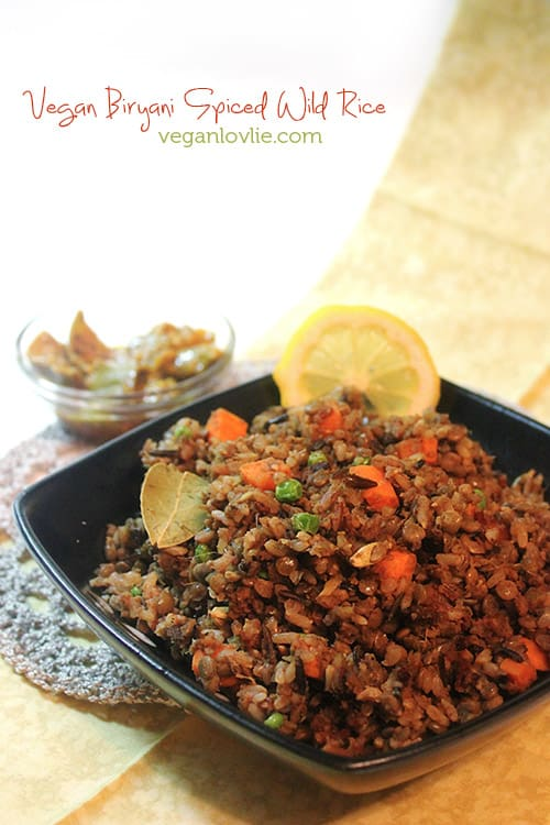 vegetable brown rice biryani spiced rice
