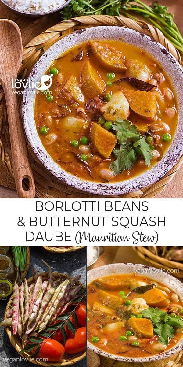 borlotti bean and butternut squash stew, Mauritian daube provençale