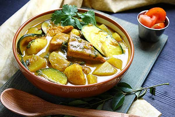 Braised Tofu and Vegetable Curry, vegan/vegetarian curry