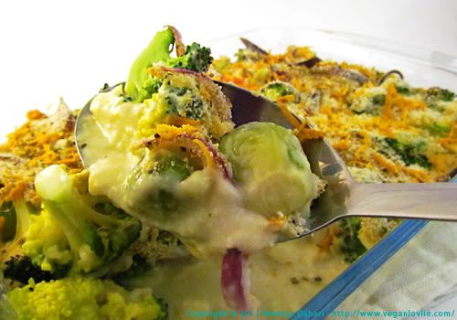 Broccoli and Brussel Sprouts bake