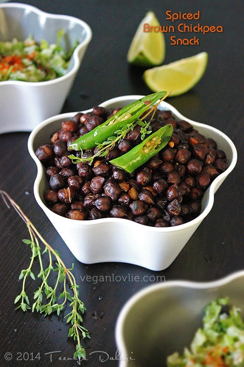 Brown Chickpea Snack, Mauritian Recipe