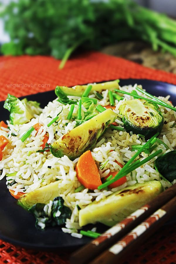 Brussels Sprouts Fried Rice, Vegan with a Vengeance by Isa Chandra Moskowitz